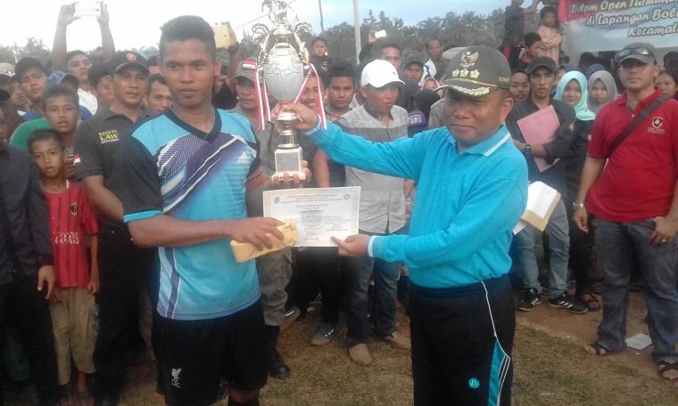 Batu Betumpang Juara Open Turnamen Sepak Bola Bupati Bangka Cup