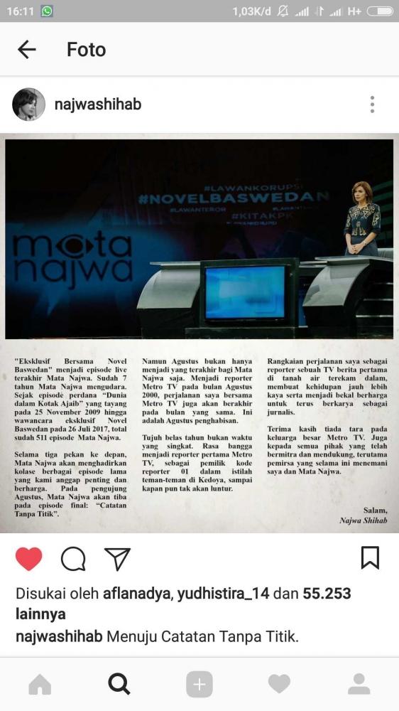 Kemanakah Najwa Shihab Akan Berlabuh?