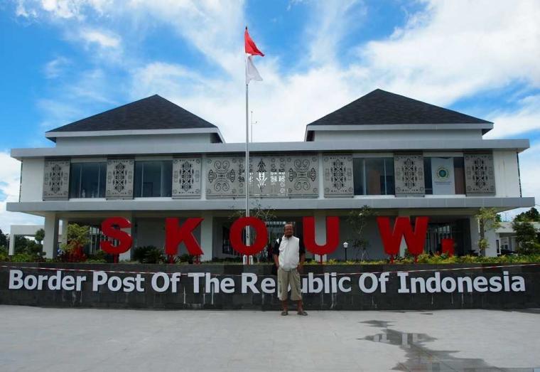 Pos Lintas Batas Negara Skouw Jayapura dan Pentingnya Informasi Geospasial