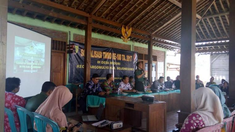 Kodim Bojonegoro Sosialisasikan TMMD ke- 100