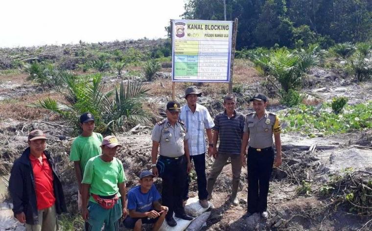 Polres Musi Rawas Terus Menambah Pembangunan Sekat Kanal