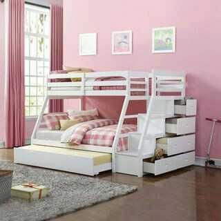 Tempat Tidur Tingkat Minimalis Ranjang Susun Anak 3 Bed Kayu Jati