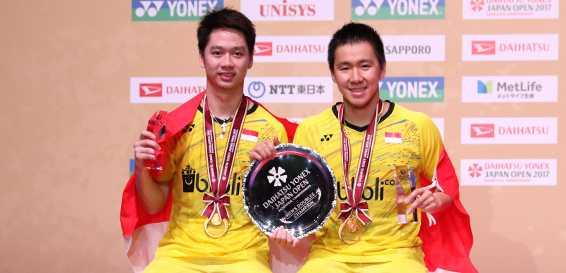 """Juara di Jepang Terbuka, """"Duo Minions"""" Duduki Peringkat Satu Dunia"""