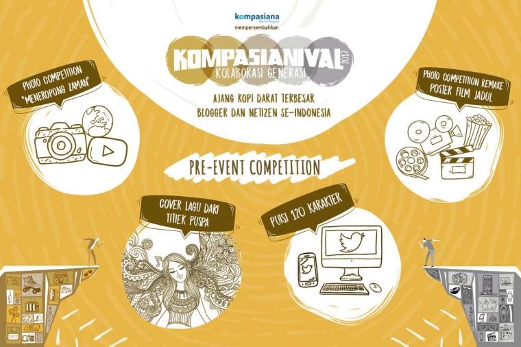 [2 HARI LAGI] Ikuti Rangkaian Pre-Event Competition, dan Ramaikan Panggung Kompasianival 2017!
