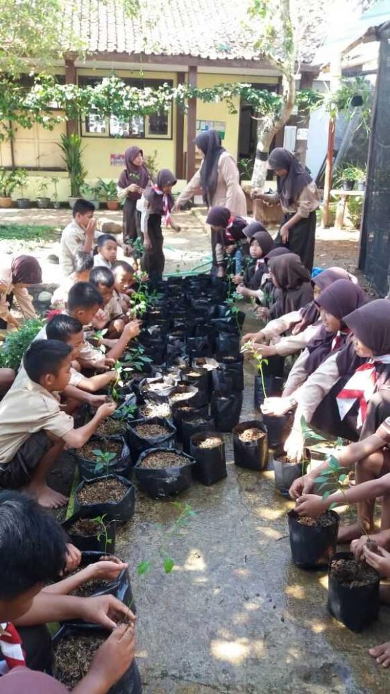 Pramuka Siaga Peduli Lingkungan Menuju Sekolah Sehat