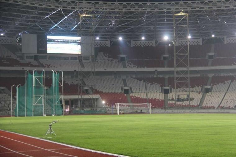 Kini Stadion GBK Punya Sistem Pencahayaan yang Jauh Lebih Terang