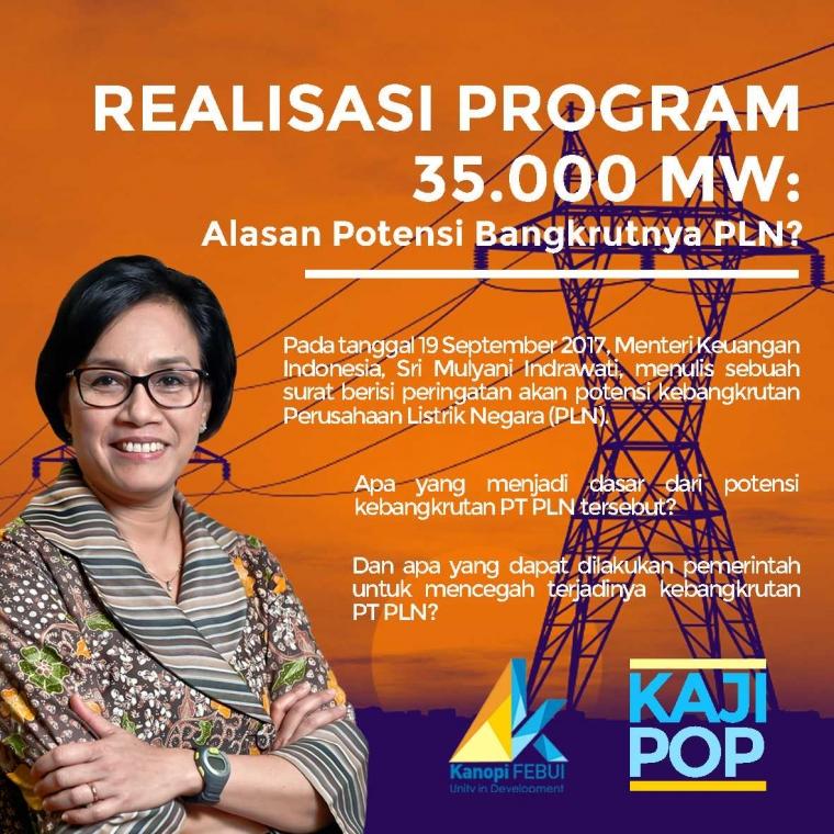 Realisasi Program 35.000 MW: Alasan Potensi Bangkrutnya PLN?