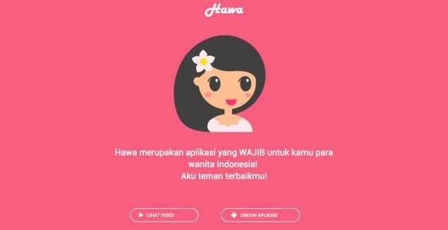 Hawa.. Aplikasi Solusi untuk Wanita Masa Kini