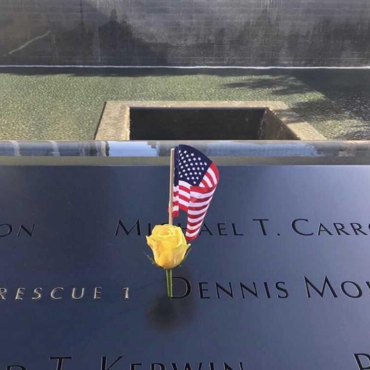 """Ground Zero"", Memorial 9/11 di New York, Amerika"