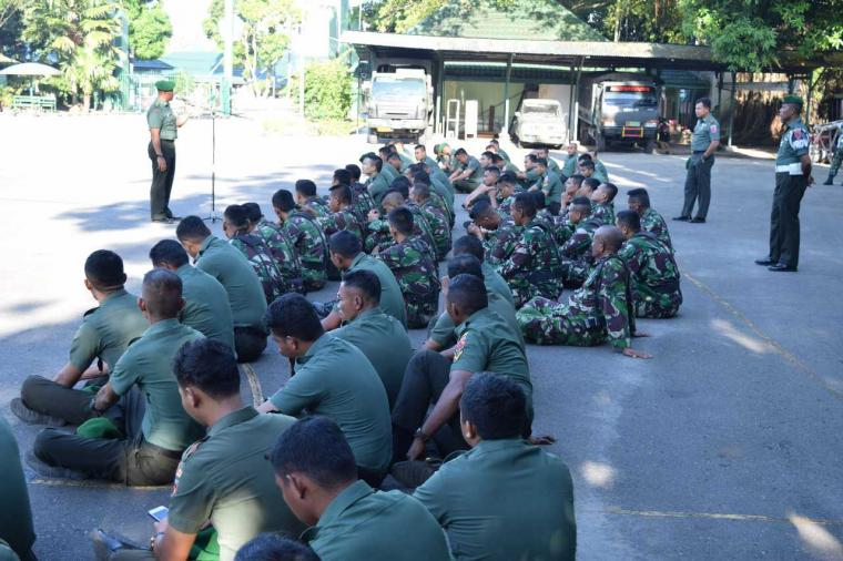 Pelihara Disiplin Prajurit, Korem Binaiya Gelar Jam Komandan