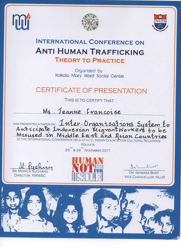 """International Conference on Anti-Human Trafficking, Kolkatta, India, 25-26 Nov 2017"""