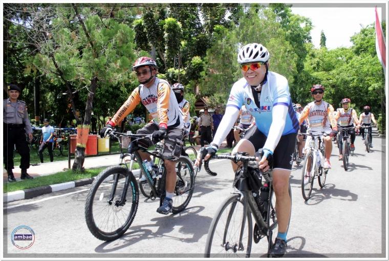KaKorlantas Mabes Polri dan 250 Pesepeda Mampir di Bantaeng