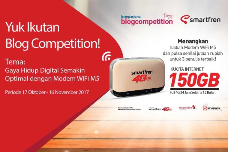 """Tiga Kompasianer Pemenang Blog Competition """"Gaya Hidup Digital Semakin Optimal dengan Modem WiFi M5"""""""