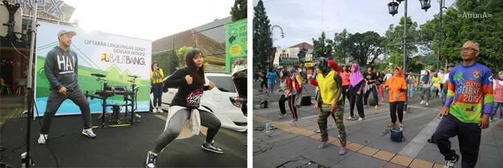 Lebih Mengenal Balitbang PU Sambil Ber-Zumba Ria di CFD Dago Bandung