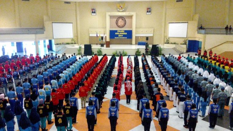 Prabu Airlangga VII, Lomba Kreasi Baris Berbaris Semarakkan Dies Natalis Universitas Airlangga ke-63