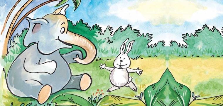 Persahabatan Kelinci Dan Gajah Oleh Lutfin Amalia Halaman All