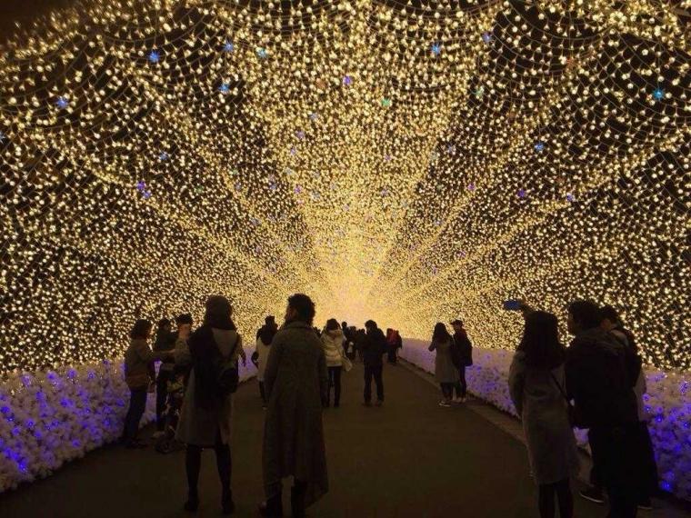 "Menikmati Keindahan Iluminasi Termegah ""Nabana no Sato"""