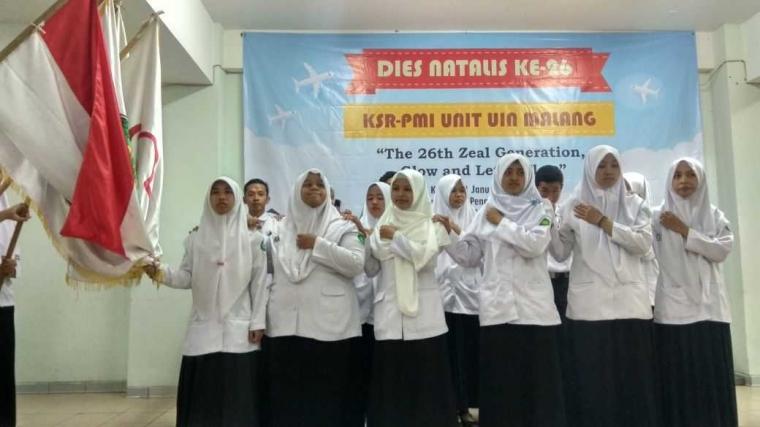 Pelantikan Pengurus KSR-PMI Unit UIN Malang Periode 2018