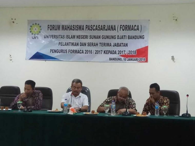 Usai Dilantik Forum Mahasiswa Pascasarjana (FORMACA) UIN SGD Bandung  Tegas Bersikap Positif