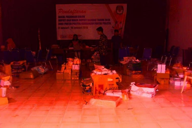 KPU Bangka Kirim Logistik Coklit ke 8 Kecamatan