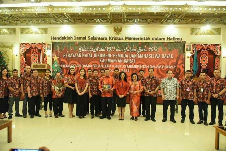 Semarak Kemeriahan Natal Oikumene Pemuda dan Mahasiswa Dayak Se-Kalimantan Barat