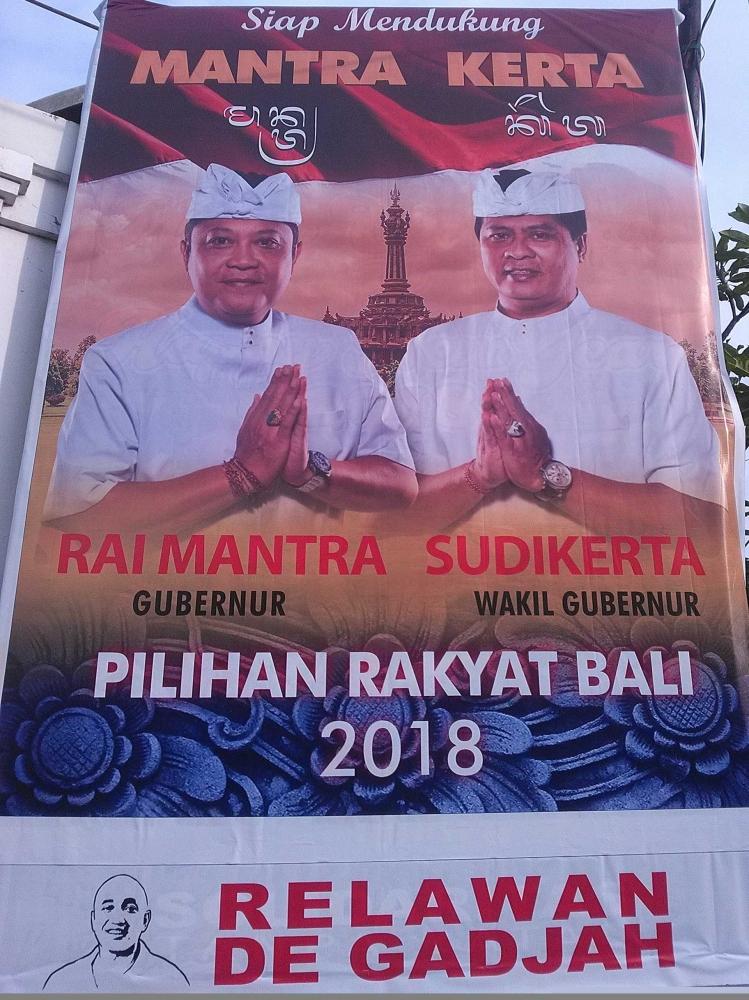 Pilgub Bali 2018, Mantra-Kerta Perlu Waspada di 4 Wilayah Ini