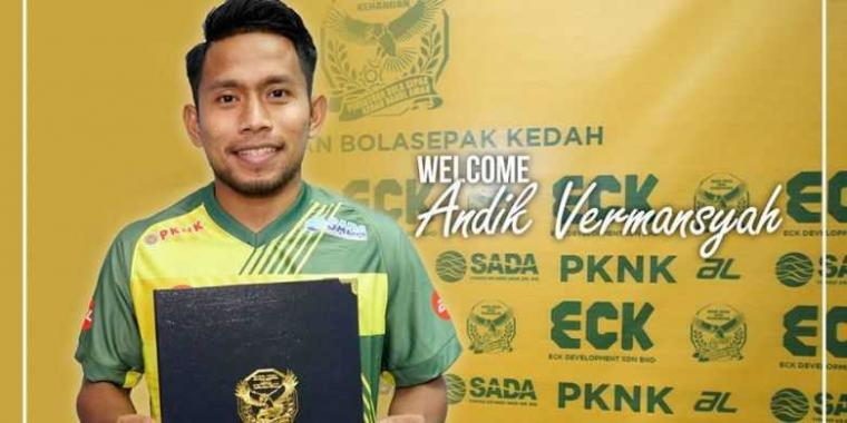Andik Vermansah Bangga Gabung dengan Kedah FA