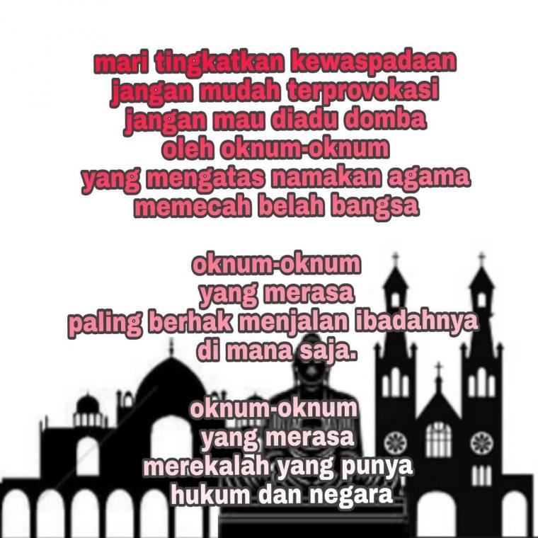 Indonesia Darurat Toleransi, Mari Saling Memahami