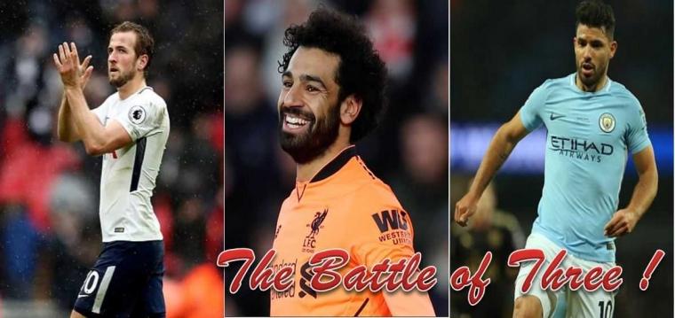 """The Battle of Three"": Kane, Salah dan Aguero"
