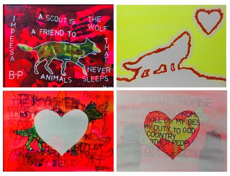 """Lukisan-lukisan """"Kasih Sayang"""""""