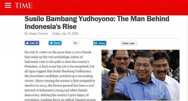 SBY Tokoh Penting Indonesia dan Dunia