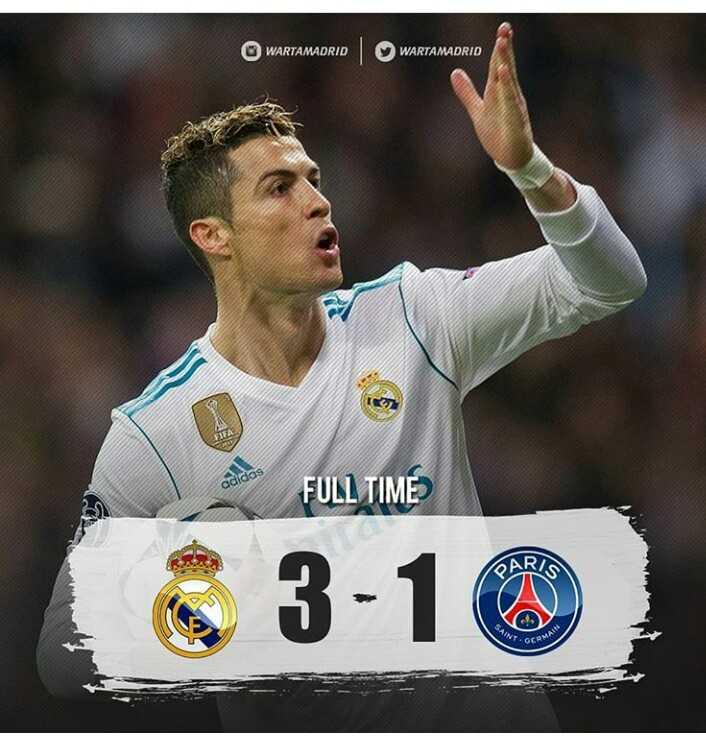 Modal Dengkul Ronaldo Cetak Gol Apik di Liga Champion