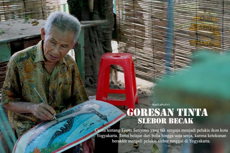Menilik Goresan Tinta Slebor Becak Yogyakarta