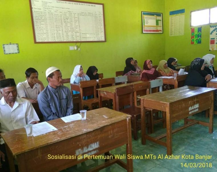 Wujudkan Pemilih yang Cerdas, Agensos KPU Kota Banjar Berikan Pencerahan pada Wali Murid MTs Al Azhar