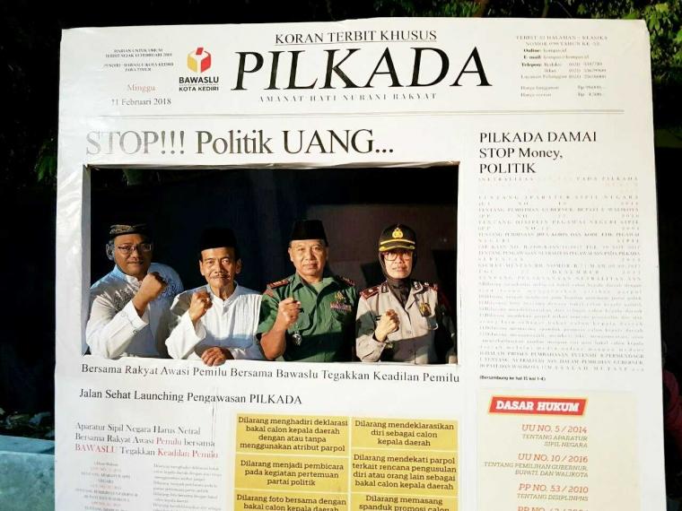 "Bersama Santri Mengawasi Pilkada ""Zaman Now"" 2018 di Kediri"