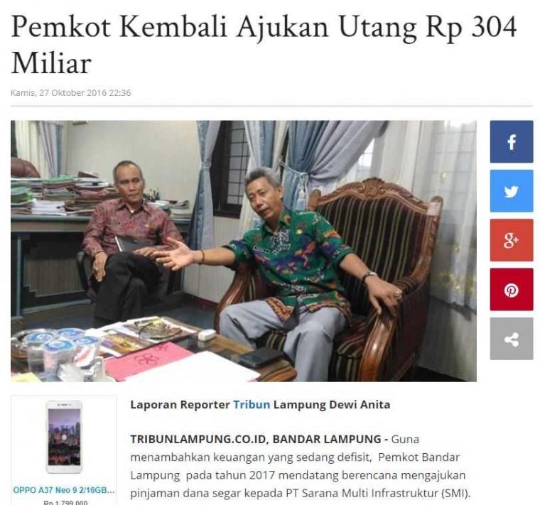 Karena Herman HN, Satu Orang di Bandar Lampung Berhutang 482 Ribu Rupiah?