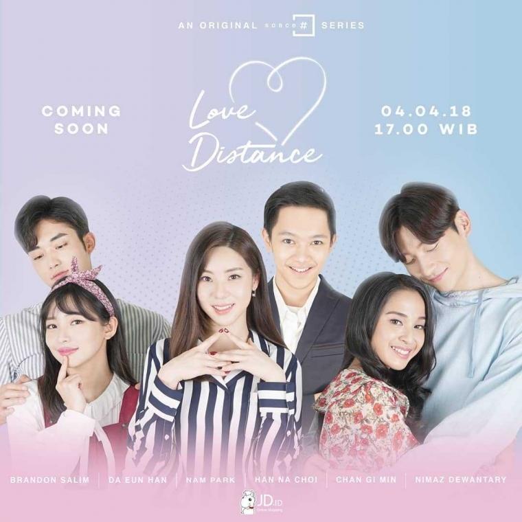 "Brandon Salim dan Han Da Eun Mencuri Perhatian Penonton dalam Drama ""Love Distance"""