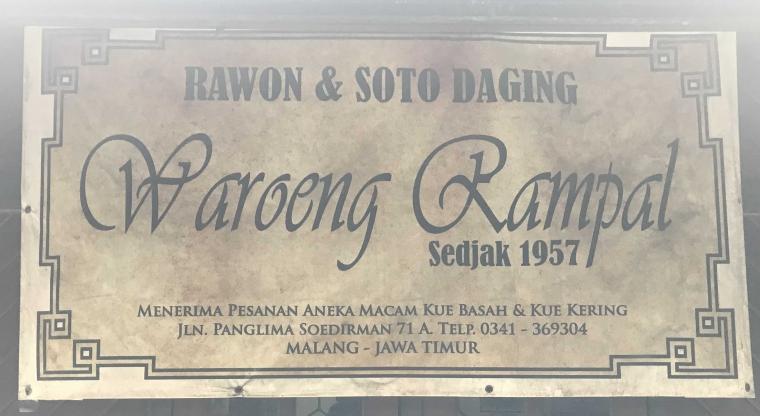 "Cita Rasa ""Rawon Rampal"" di Malang"