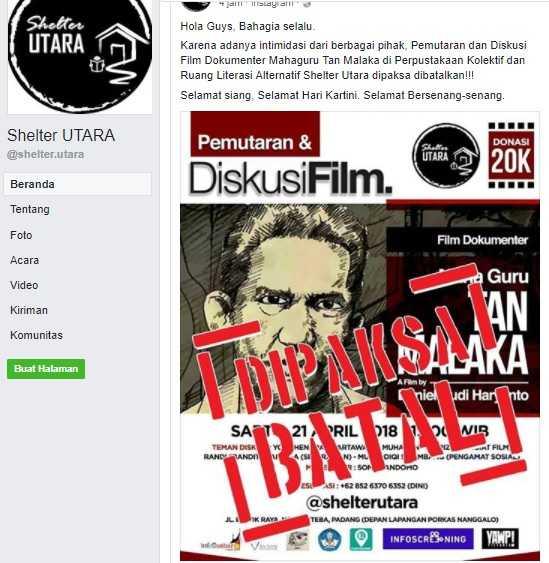 Intimidasi Pembatalan Film Tan Malaka, Laku Dungu yang Terus Berulang