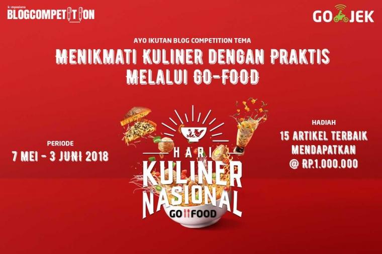 [3 HARI LAGI] Nikmati Kuliner di Hari Kuliner Nasional GO-FOOD dan Raih Hadiahnya!