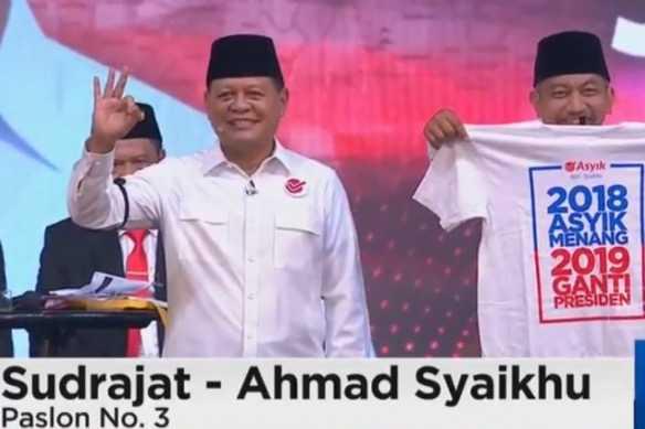 """Sangat Disesalkan,  """"2019 Ganti Presiden"""" Muncul pada Debat Pilgub Jabar"""