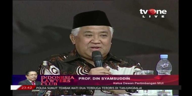 Din Syamsuddin Bicara Teori Konspirasi