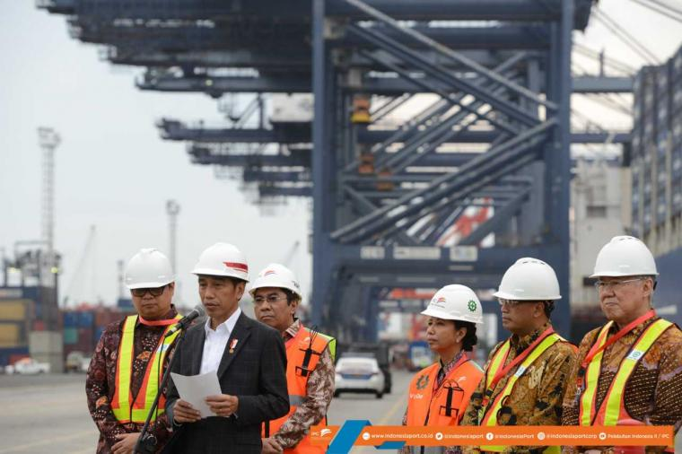 Presiden Lakukan Pelepasan Ekspor dan Peninjauan Infrastruktur Pelabuhan Tanjung Priok
