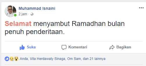 Kita Tidak Sedang Piknik di Bulan Ramadhan