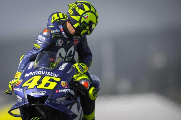 Valentino Rossi Raih Podium Tiga di MotoGP Seri Le Mans Perancis