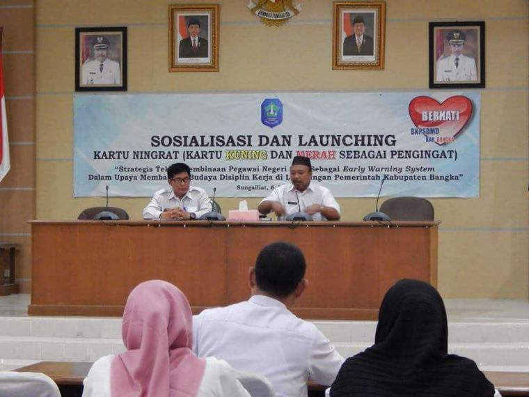 """Sosialisasi """"Kartu Ningrat"""" Sistem Pengawasan Disiplin Pegawai Pemkab Bangka"""