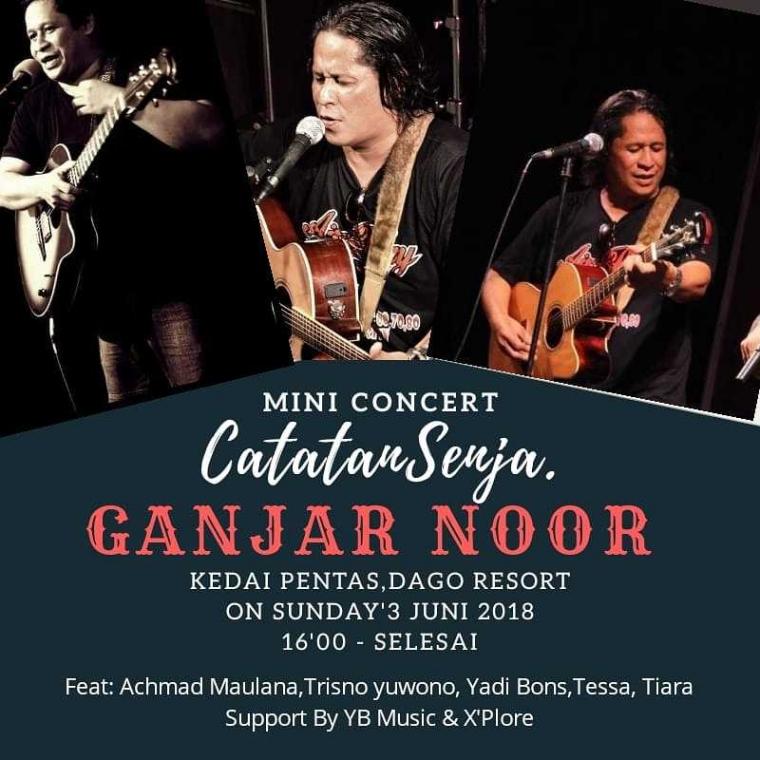 Mini Konser, Ganjar Noor, Catatan Senja