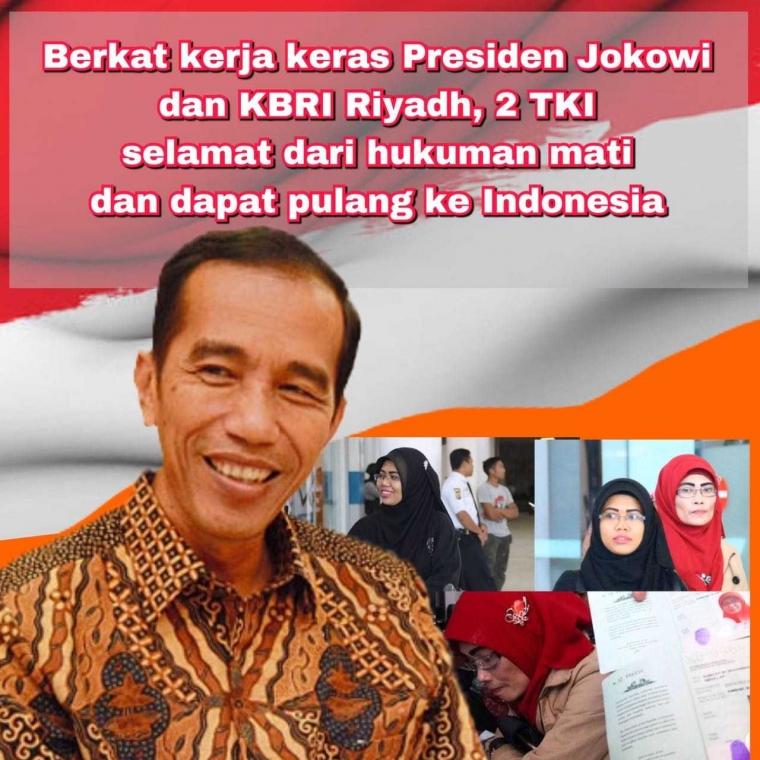 Lepas dari Jerat Hukuman Mati, Dua TKW asal NTB Berterima Kasih kepada Presiden Jokowi