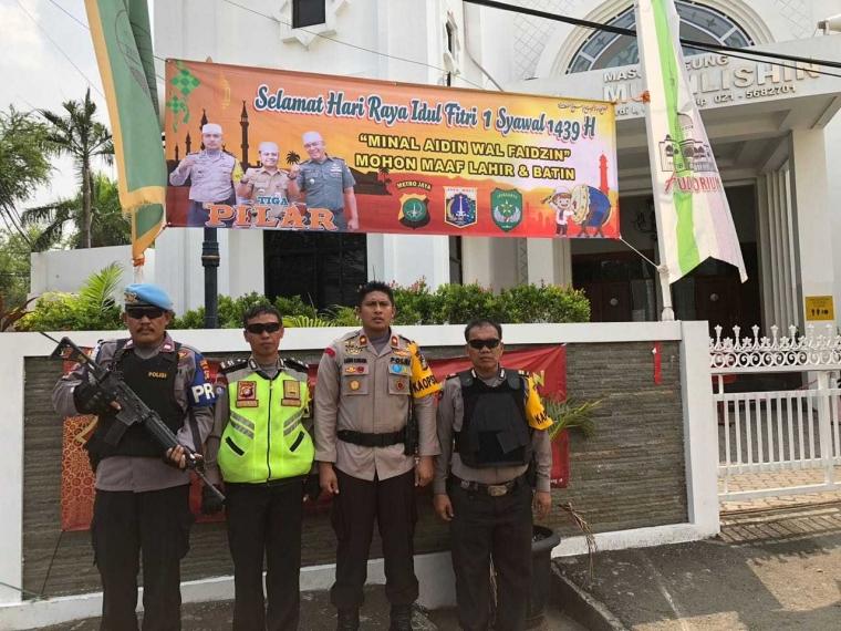 Kapolsek Tanjung Duren Koordinasi Kamtibmas dengan Pengurus Masjid Jelang Lebaran
