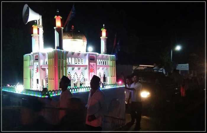 Momen Syawal di Takbir Keliling di Selong, Lombok Timur